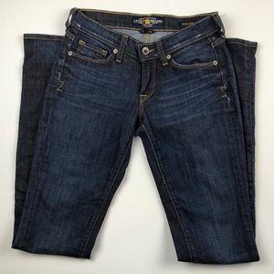 Lucky Brand Zoe Straight Denim Jeans Sz 2 26